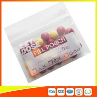 Quality Customized Clear Ziplock Pill Bags Resealable For Drug Medicine Packing for sale