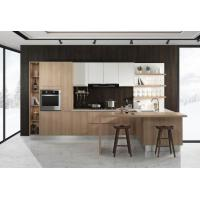 China Unique E1 Grade Particle Board Kitchen Cabinets With Melamine Faced Board 100 Colors on sale