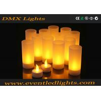 China Plastic Led Flameless Candles , Artificial flickering led candles Eco - Friendly on sale