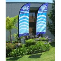 China Outdoor Flying advertising flags and banners with logo printed on sale