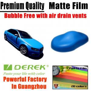 Quality Matte Car Wraps Vinyl Film - Matte Light Blue Car Wrapping Film for sale