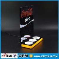 Quality Customized 3 bottles acrylic LED beer display for sale