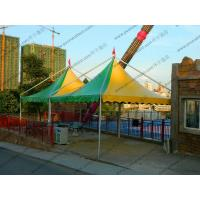 Quality Mini Colorful Gazebo Canopy Tent Green And Yellow High Peak Flame Retardant for sale