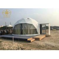 Quality Clear Span Lightweight Geodesic Tent Fire Retardant Commercial Dome Tents for sale