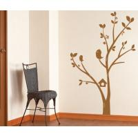 Quality Tree and Flower PVC Wall Sticker B092 / Tree Home Decoration for sale