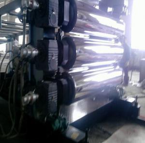 PP PE Sheet Plastic Extrusion Line , 37KW - 75KW Extrusion Equipment