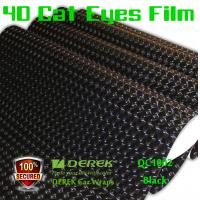 Quality 4D Cat Eyes Car Wrapping Vinyl Films - Black for sale