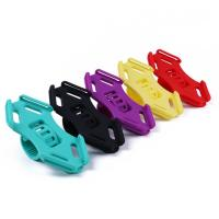 Quality Flexible Silicone Bike Handlebar Cellphone Mount Rubber Strap Holder for 4.5-6.0 Inch Phone in Five Bright Color for sale
