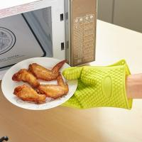 Buy high quality traditional long silicone oven heat gloves hot mitts at wholesale prices
