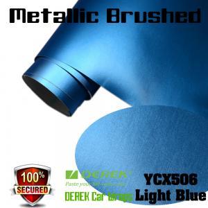 Quality Matte Metallic Brushed Vinyl Wrapping Film - Matte Metallic Brushed Light Blue for sale