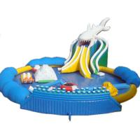 Quality Hot Sales Giant Inflatable Shark Water Park, Inflatable On Land Pool Water Park for sale