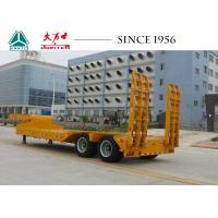 China 20 To 50 Tons 2 Axles Lowboy Trailer With Hydraulic Ramp Tires exposed Type on sale