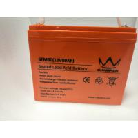 Quality OEM 12v Deep Cycle Marine Battery , Flat Rechargeable Lithium Battery for sale