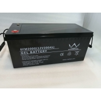 Quality Lightweight M8 Terminal 12V 200ah AGM Deep Cycle Gel Battery for sale