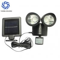 China Dual Head lamp Solar Flood Lights Warm / White Color For Home Garden / Lawn on sale