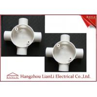 Quality White GI 4 Way Electrical Junction Box PVC Conduit and Fittings BS4662 Standard for sale