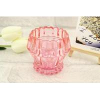 China Fashion Colorful Glass Candle Holder on sale