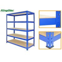 China 122cm Long Boltless Garage Shelving , Metal Storage Shelving Units 220 Kg Capacity on sale