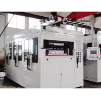 Quality Servo Motor Plastic Thermoforming Machine PLC Touch Screen Square Steel Structure for sale