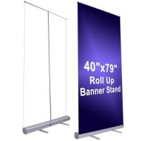 Buy 150cm Width Large Stand Up Banner Roll Up Advertising Banners at wholesale prices