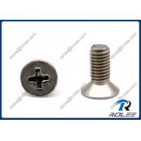 China Philips Flat Head Stainless Steel Machine Screw, SS 304 / 316 / 18-8 / A2 / A4 on sale