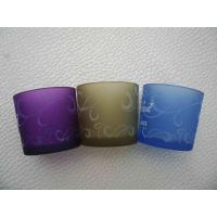 Buy frosted glass candle holder at wholesale prices