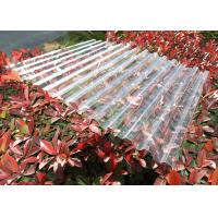 Quality Clear Plastic Corrugated Polycarbonate Sheets 0.8 Mm-3.0mm Weather Resistance for sale