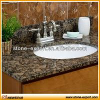 Quality vanity tops granite countertop ,granite bathroom vanity tops,shanxi black countertops,bowed vanity tops,slab top, for sale