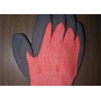 Buy Work Protection Cut Resistant Gloves Orange Knitted Shell Crinkle Latex Coated at wholesale prices