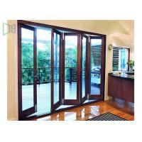 China Fire Proof Aluminium Bifold Patio Doors , Residential Folding Doors With Louver Inside on sale