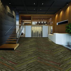 Quality Multiple Design Modern Carpet Tiles Solution Dyed Method Special Size 100 Cm X 25 Cm for sale