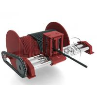 Quality Customized Color Lebus Grooved Drum / Hydraulic Winch With Spooling Device for sale