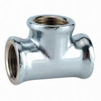 China Brass Tee Fitting with Chrome Plating on sale