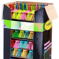 Broom Advertising Cardboard shelf display boxes with Handle Set