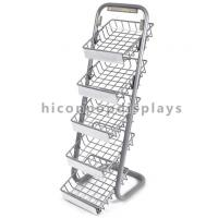 Best 5 Layer Metal Tray Retail Flooring Display Stand Wire Snack Candy Bar Display Stand wholesale