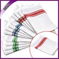 Quality Cheap Wholesale 100% Cotton Striped Design Kitchen Towel, Dish Towel With Tie for sale