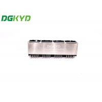 Quality 1X4 ports RJ45 Connector 180 degree Without filter outlet Without led for sale