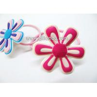 Quality Free sample fabric sunflower shape hair ring hairpin for girls for sale