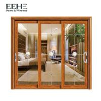China Space Saving Aluminum Frame Sliding Glass Doors For Residential Color Optional on sale