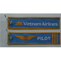 Best Vietnam Airlines Logo Pilot 3 Bars 4 Bars Fabric Embroidery Keychain Keyring wholesale