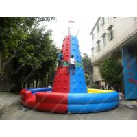 China Outdoor Inflatable Climbing Wall , Inflatable Rock Climbing With Pool on sale