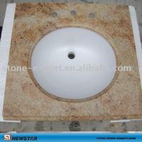 Quality Golden granite vanity tops ,Bathroom travertine vanity  ,granite bathroom vanity tops,granite worktops for sale