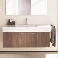 Best Customized Drawers Wood Grain Bathroom Vanity With Sink And Tap For Hotel Project wholesale