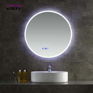 China Bluetooth Wall Mounted Round Led Bathroom Mirror Anti fogging Slivered on sale