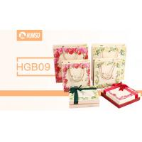China Coloured Cardboard Paperboard Gift Boxes Bowknot Cotton Handle Embroidery on sale