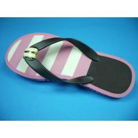 China Pink and White Flip Flops on sale