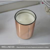 Quality Room Fragrance Pure Clean Soy Candles ITS Approved With Rose Golden Glass Jar for sale