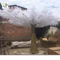 Best UVG winter wedding ideas white banyan leaves fake white trees for stage decoration GRE059 wholesale