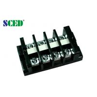 Quality High Current Terminal Connector Block 18.0mm 600V Black PC Screw Mount Connector for sale