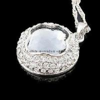 Quality Crystal Silver Diamond Jewelry Necklace for sale
